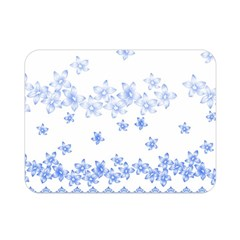 Blue And White Floral Background Double Sided Flano Blanket (mini)