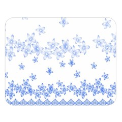 Blue And White Floral Background Double Sided Flano Blanket (large)