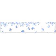 Blue And White Floral Background Flano Scarf (large)