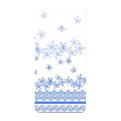 Blue And White Floral Background Samsung Galaxy Alpha Hardshell Back Case