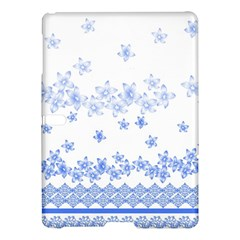 Blue And White Floral Background Samsung Galaxy Tab S (10.5 ) Hardshell Case