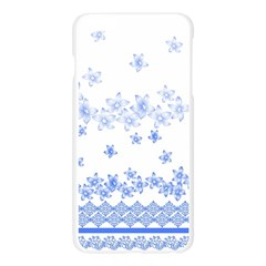 Blue And White Floral Background Apple Seamless iPhone 6 Plus/6S Plus Case (Transparent)