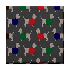 Cute Dachshund Dogs Wearing Jumpers Wallpaper Pattern Background Tile Coasters