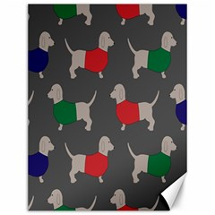 Cute Dachshund Dogs Wearing Jumpers Wallpaper Pattern Background Canvas 12  X 16
