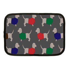 Cute Dachshund Dogs Wearing Jumpers Wallpaper Pattern Background Netbook Case (Medium)