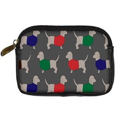 Cute Dachshund Dogs Wearing Jumpers Wallpaper Pattern Background Digital Camera Cases