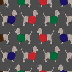 Cute Dachshund Dogs Wearing Jumpers Wallpaper Pattern Background Magic Photo Cubes