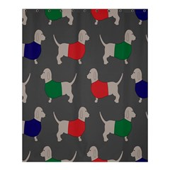 Cute Dachshund Dogs Wearing Jumpers Wallpaper Pattern Background Shower Curtain 60  X 72  (medium)