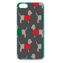 Cute Dachshund Dogs Wearing Jumpers Wallpaper Pattern Background Apple Seamless Iphone 5 Case (color)