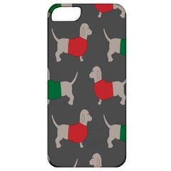 Cute Dachshund Dogs Wearing Jumpers Wallpaper Pattern Background Apple Iphone 5 Classic Hardshell Case