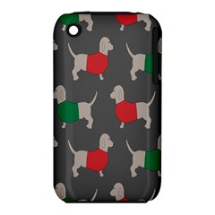 Cute Dachshund Dogs Wearing Jumpers Wallpaper Pattern Background Iphone 3s/3gs