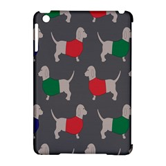 Cute Dachshund Dogs Wearing Jumpers Wallpaper Pattern Background Apple Ipad Mini Hardshell Case (compatible With Smart Cover)