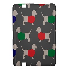 Cute Dachshund Dogs Wearing Jumpers Wallpaper Pattern Background Kindle Fire Hd 8 9