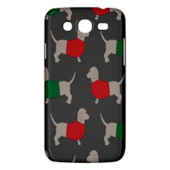 Cute Dachshund Dogs Wearing Jumpers Wallpaper Pattern Background Samsung Galaxy Mega 5 8 I9152 Hardshell Case