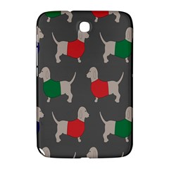 Cute Dachshund Dogs Wearing Jumpers Wallpaper Pattern Background Samsung Galaxy Note 8 0 N5100 Hardshell Case