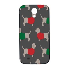 Cute Dachshund Dogs Wearing Jumpers Wallpaper Pattern Background Samsung Galaxy S4 I9500/i9505  Hardshell Back Case