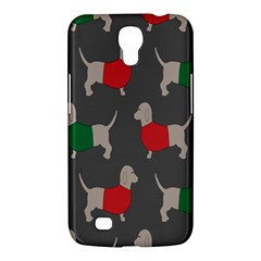 Cute Dachshund Dogs Wearing Jumpers Wallpaper Pattern Background Samsung Galaxy Mega 6 3  I9200 Hardshell Case