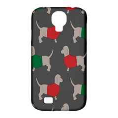 Cute Dachshund Dogs Wearing Jumpers Wallpaper Pattern Background Samsung Galaxy S4 Classic Hardshell Case (pc+silicone)