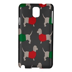 Cute Dachshund Dogs Wearing Jumpers Wallpaper Pattern Background Samsung Galaxy Note 3 N9005 Hardshell Case