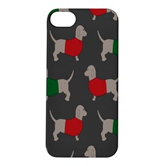 Cute Dachshund Dogs Wearing Jumpers Wallpaper Pattern Background Apple Iphone 5s/ Se Hardshell Case