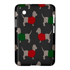 Cute Dachshund Dogs Wearing Jumpers Wallpaper Pattern Background Samsung Galaxy Tab 2 (7 ) P3100 Hardshell Case