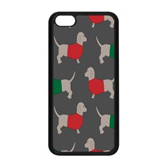 Cute Dachshund Dogs Wearing Jumpers Wallpaper Pattern Background Apple Iphone 5c Seamless Case (black)