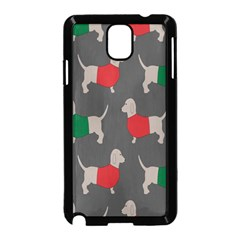 Cute Dachshund Dogs Wearing Jumpers Wallpaper Pattern Background Samsung Galaxy Note 3 Neo Hardshell Case (black)