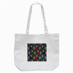 Cute Dachshund Dogs Wearing Jumpers Wallpaper Pattern Background Tote Bag (white)