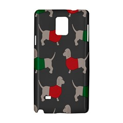 Cute Dachshund Dogs Wearing Jumpers Wallpaper Pattern Background Samsung Galaxy Note 4 Hardshell Case