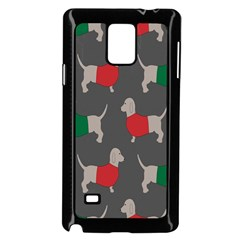 Cute Dachshund Dogs Wearing Jumpers Wallpaper Pattern Background Samsung Galaxy Note 4 Case (black)