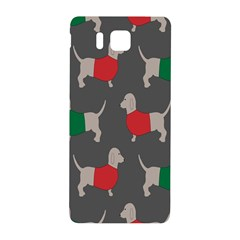 Cute Dachshund Dogs Wearing Jumpers Wallpaper Pattern Background Samsung Galaxy Alpha Hardshell Back Case