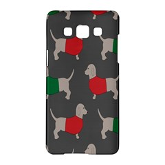 Cute Dachshund Dogs Wearing Jumpers Wallpaper Pattern Background Samsung Galaxy A5 Hardshell Case