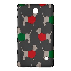 Cute Dachshund Dogs Wearing Jumpers Wallpaper Pattern Background Samsung Galaxy Tab 4 (7 ) Hardshell Case