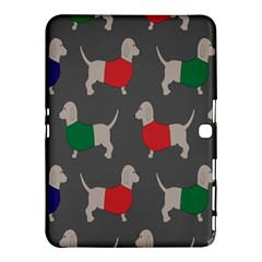 Cute Dachshund Dogs Wearing Jumpers Wallpaper Pattern Background Samsung Galaxy Tab 4 (10 1 ) Hardshell Case