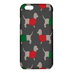 Cute Dachshund Dogs Wearing Jumpers Wallpaper Pattern Background iPhone 6/6S TPU Case