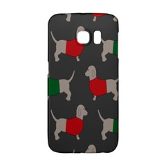 Cute Dachshund Dogs Wearing Jumpers Wallpaper Pattern Background Galaxy S6 Edge