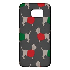 Cute Dachshund Dogs Wearing Jumpers Wallpaper Pattern Background Galaxy S6