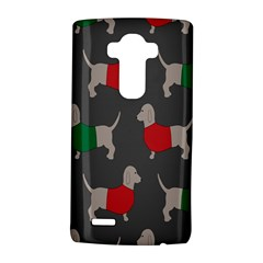 Cute Dachshund Dogs Wearing Jumpers Wallpaper Pattern Background Lg G4 Hardshell Case