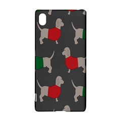 Cute Dachshund Dogs Wearing Jumpers Wallpaper Pattern Background Sony Xperia Z3+