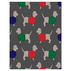 Cute Dachshund Dogs Wearing Jumpers Wallpaper Pattern Background Drawstring Bag (large)
