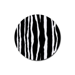 Zebra Background Pattern Rubber Round Coaster (4 pack)