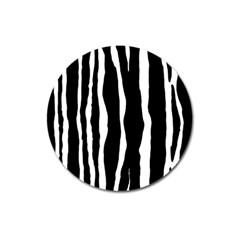 Zebra Background Pattern Magnet 3  (round)
