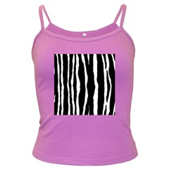 Zebra Background Pattern Dark Spaghetti Tank