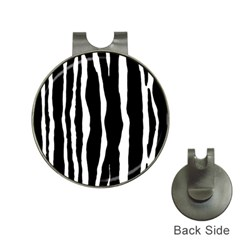 Zebra Background Pattern Hat Clips With Golf Markers