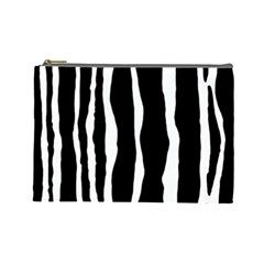 Zebra Background Pattern Cosmetic Bag (Large)