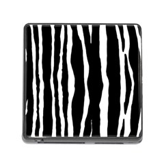 Zebra Background Pattern Memory Card Reader (square)