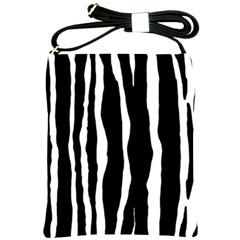 Zebra Background Pattern Shoulder Sling Bags