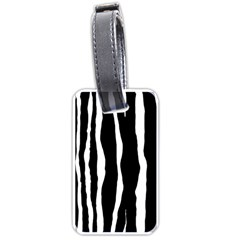 Zebra Background Pattern Luggage Tags (Two Sides)