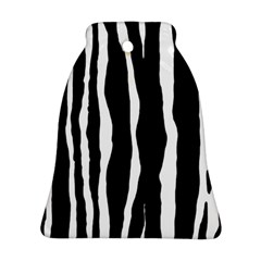 Zebra Background Pattern Bell Ornament (two Sides)