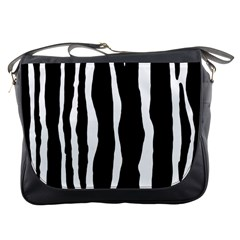 Zebra Background Pattern Messenger Bags